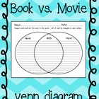 Venn Diagram to compare Novel and Movie