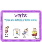 Verb Activity Pack-Meets Common Core Standards