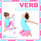 Verb Flashcards - for matching games