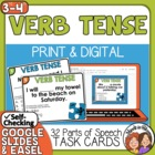 Verb Tenses Task Cards: 32 Cards for CCSS.ELA.L.3.1e and 4.1b