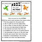 Verbs- Lights, Camera, ACTION!