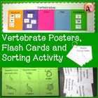 Vertebrate Posters, Flash Cards and Sorting Activity