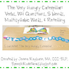 Very Hungry Caterpillar FREEBIE Activities for Speech &amp; La