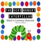 Very Hungry Caterpillar Math & Literacy Stations--75 Pages!