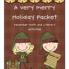 Very Merry December Math and Literacy Activities