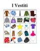 Vestiti (Clothing in Italian) Bingo
