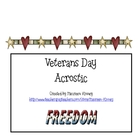 Veterans Day Acrostic