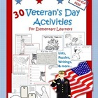 Veteran's Day Activities for Grades 3-8