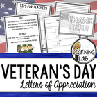 Veteran's Day Appreciation Writing Activity