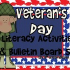 Veteran&#039;s Day Bulletin Board Dislpay/ Writing Craftivity/L