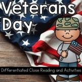 Veterans Day: Close Reading Freebie