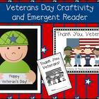 Veterans Day Craftivity &amp; Emergent Reader Pack