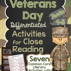 Veterans Day Differentiated Activities for Close Reading G