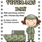 Veterans Day Math and Literacy Activities and Centers