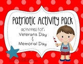 Veterans Day & Memorial Day Activity Pack