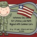 Veterans Day Mini Literacy and Math Unit
