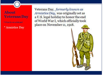 Veterans Day Presentation (The History and Why We Celebrate)