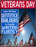 Veterans Day Sentence Builders