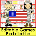 Veterans' Day Sight Words Game Boards - Set 1 - First 100 Dolch