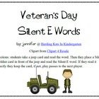 Veterans Day Silent E CVCE Word Game