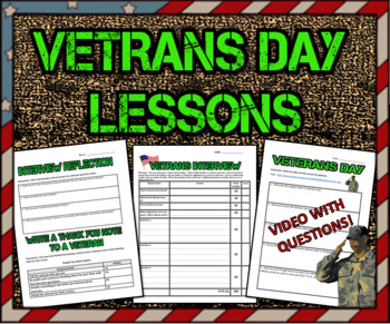 Veterans Day: Student Interview with Rubric: Great Lesson