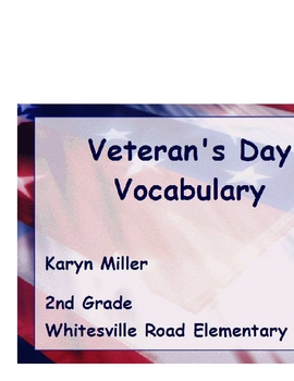 Veteran's Day Vocabulary Promethean Flipchart with Activotes