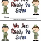 Veterans Day- We Are Ready to Serve Emergent Reader Kindergarten