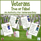 Veteran&#039;s True or False