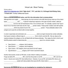Virtual Blood Testing Lab Study Guide