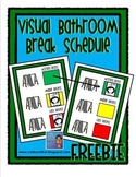 Visual Bathroom Schedule FREEBIE