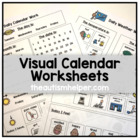 Visual Calendar Worksheets for Autism, Special Education,