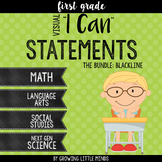"""Visual """"I Can"""" Statements for Common Core Standards- Bundle"""