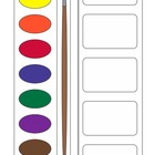 Visual Labels for Art Materials: Types of Paint