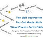 Visual Process Cards Regrouping/Subtraction
