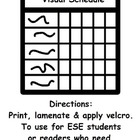 Visual Schedule for ESE Students