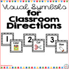 Visual Symbols for Classroom Directions: Black Chevron