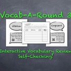 Vocab-A-Round 3: Unique, Kinesthetic Way to Review Math Vo