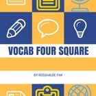 Vocab Four Square
