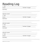 Vocab and Reading Log