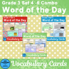 Vocabarlary Development Word Of the Day Combo B (Sets 4 - 