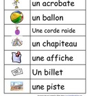 Vocabulaire CIRQUE / CIRCUS Vocabulary FRENCH