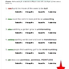 Vocabulary Activity Grammar Fun