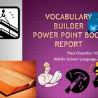 Vocabulary Book Report Power Point