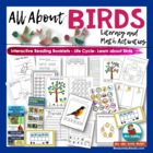 Vocabulary Cards for Birds Word Bank- Grade 1 or 2