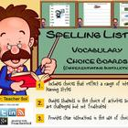 Vocabulary Choice Boards (Spelling List #5) RFS4.3