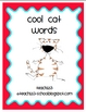 Vocabulary:  Cool Cat Words - aligned with 1st - 3rd CCSS