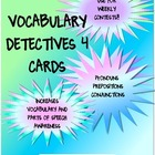 Vocabulary Detectives Task Cards 4