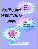 Vocabulary Detectives Task Cards 5 Similes, Metaphors and