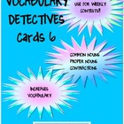 Vocabulary Detectives Task Cards 6