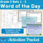 Vocabulary Development Combo A Games and Activites Supplem